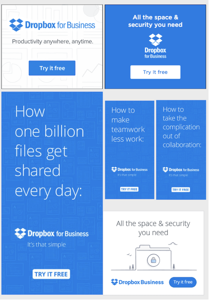 Dropbox banner ads