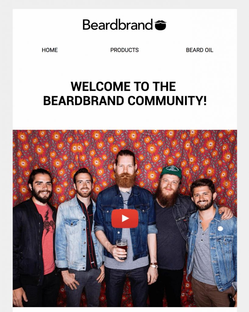 beardbrand email example