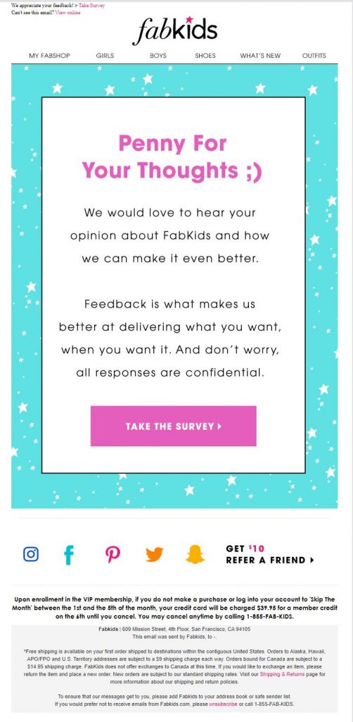 fabkids email example