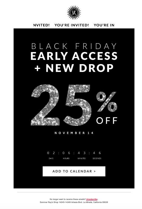 email marketing holiday example