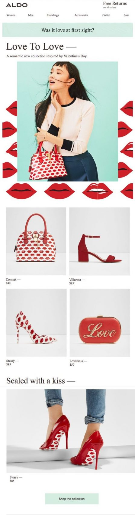 aldo valentines email example