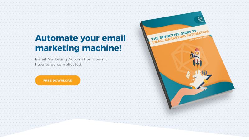 """Picture of ebook titled """"The Definitive Guide to Email Marketing Automation"""""""