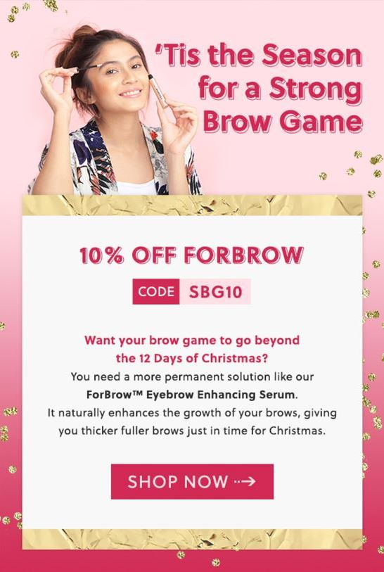 Sample Holiday-themed email from Forchics
