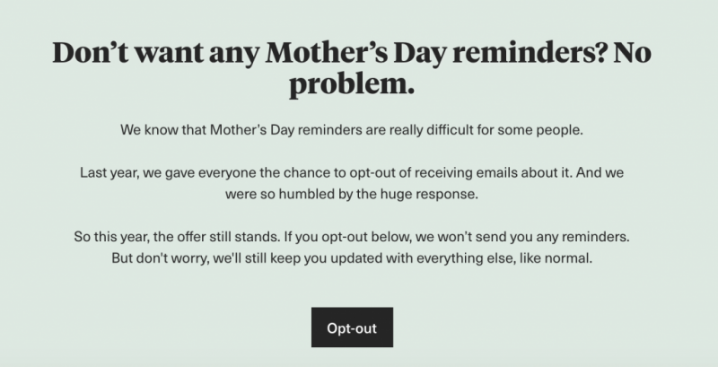 Opt-out email