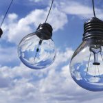 three lightbulbs against a cloudy sky make your brand more sustainable